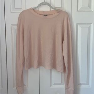 Pink Pleated Long Sleeve